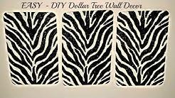 DIY Dollar Tree 3 Piece Canvas Zebra Print - Home Decor - Wall Decor