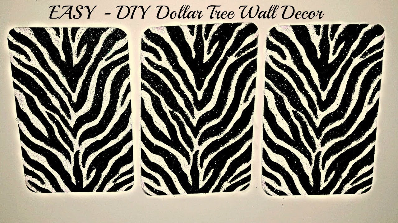 photo about Dollar Tree Printable Job Application named Do-it-yourself Greenback Tree 3 Piece Canvas Zebra Print - Property Decor - Wall Decor