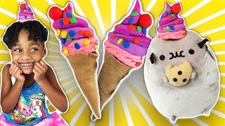 How to Make Play Doh Ice Cream! A Creative Activity for Kids | Naiah and Elli toys Show