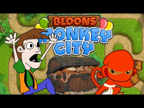 Toon Plays: Bloons Monkey City | The King's Treasure Hunt (1)