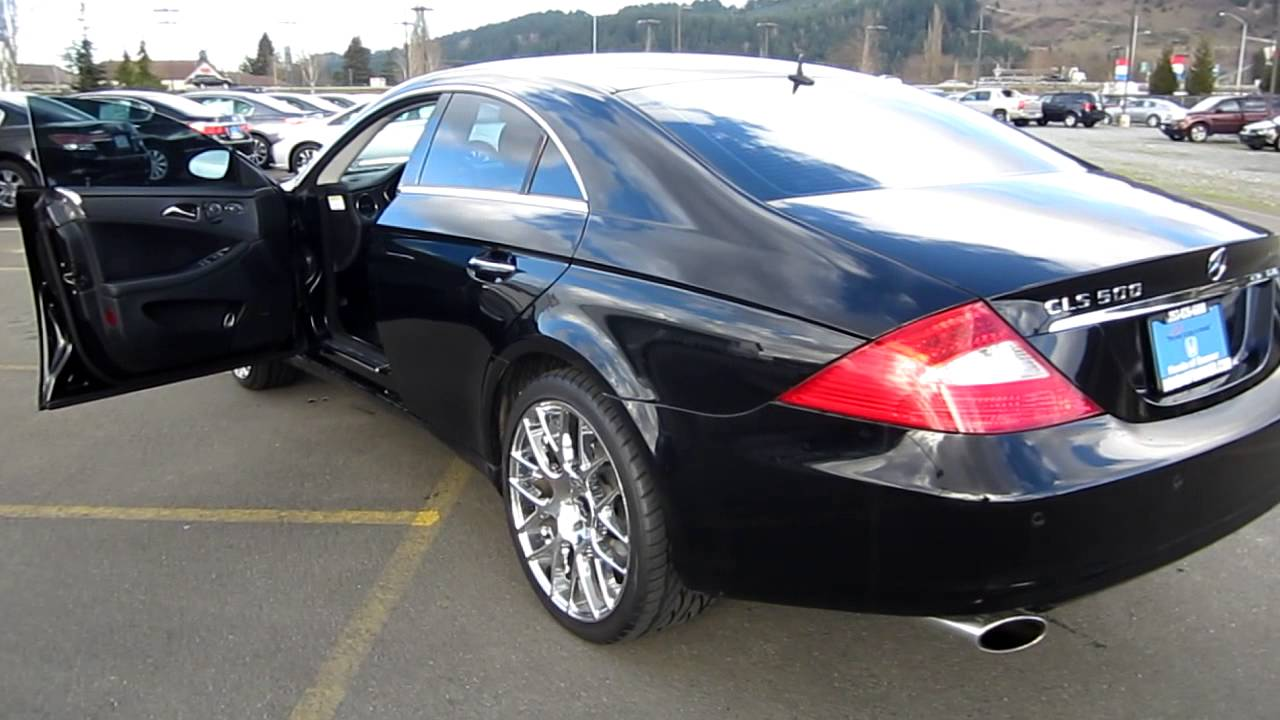2006 mercedes benz cls500 black stock h1925 walk around