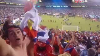 Final Copa America Chile vs Argentina ( Marea Roja celebracion  )