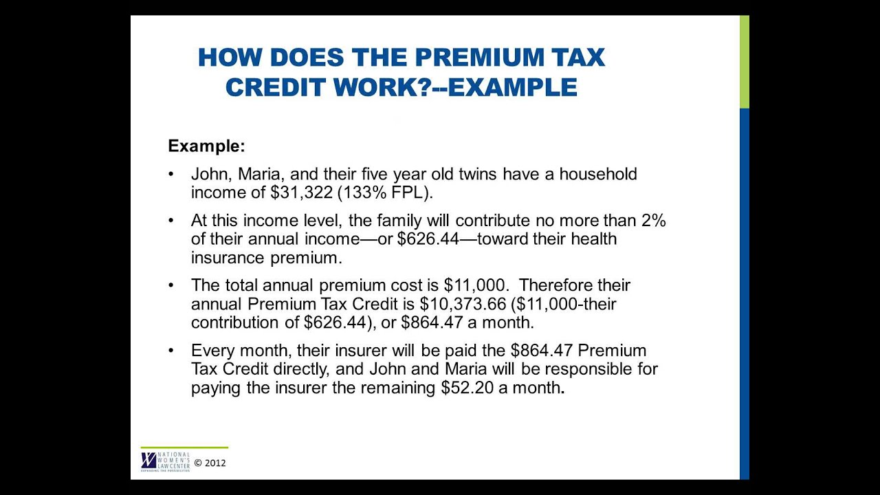 How Does The Premium Tax Credit Work