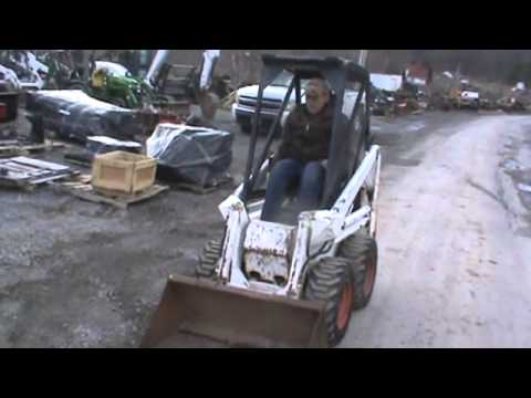 Bobcat 371 Mini Skid Steer Loader Kohler 14HP Awesome Barn Machine on