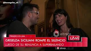 Griselda Siciliani rompió el silencio y dijo por qué abandonó #Bailando2019