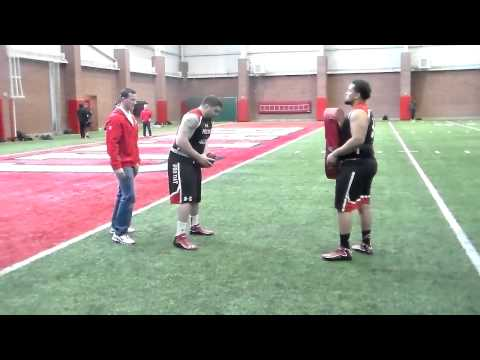 Sam Brenner working out at Center (Utes Pro Day)