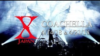 Video Yoshiki's return to drums! X Japan to perform at Coachella 2018 download MP3, 3GP, MP4, WEBM, AVI, FLV November 2018