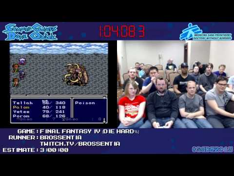 Final Fantasy IV [SNES] :: SPEED RUN (2:21:24) by Brossentia #SGDQ 2013