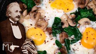 EL DESAYUNO DE ALBERT EINSTEIN | Huevos fritos con champiñones