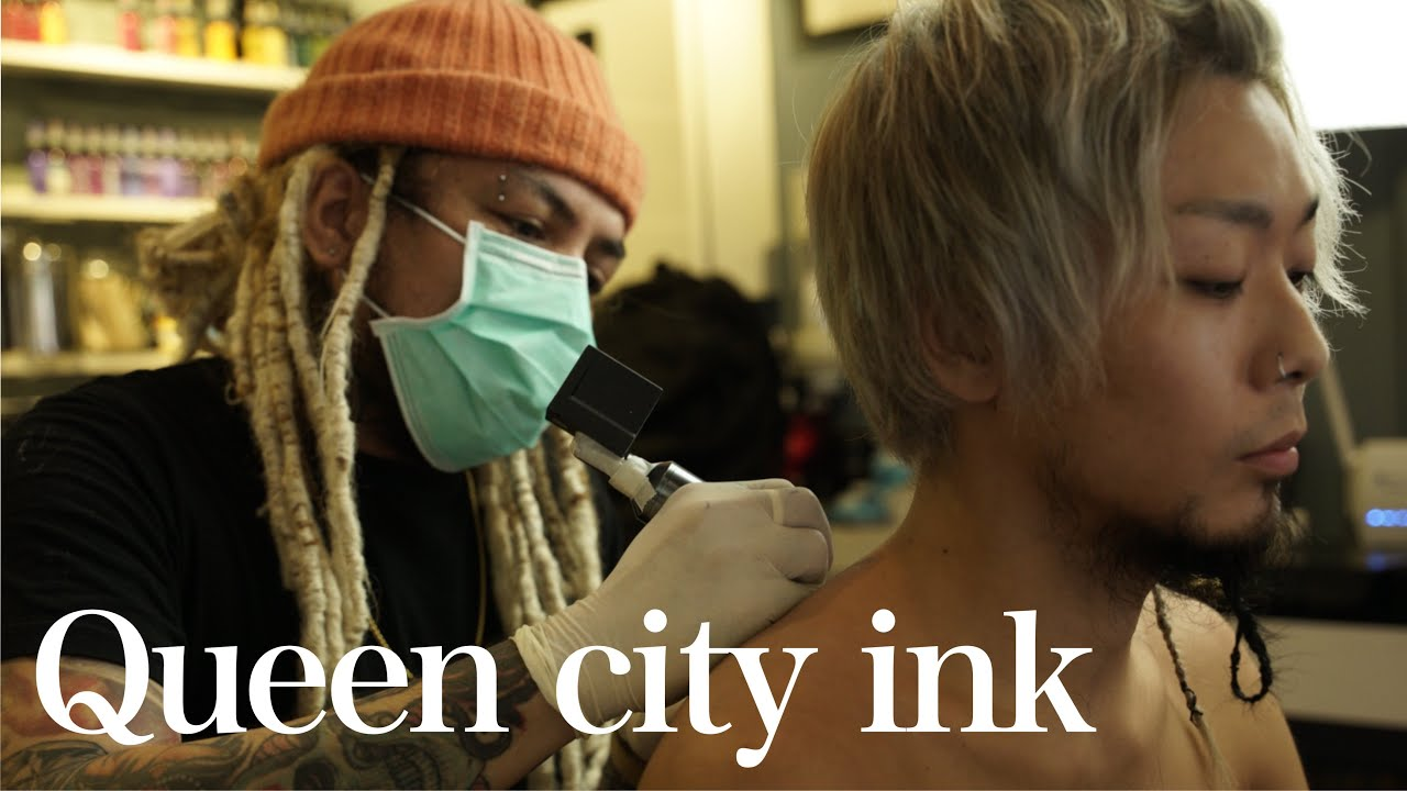 "Get tattoo from ""Queen city ink"" @CROL's TATTOO STUDIO/マジでイケてるタトゥーアーティストに彫ってもらった"
