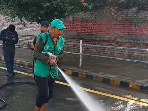 cleaning road and dwarika hotel