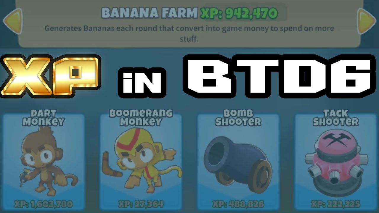 Bloons TD6 - How to earn Xp for Towers and your Player - Intel from Ninja  Kiwi via Reddit