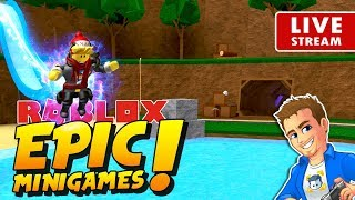 ROBLOX EPIC MINIGAMES LIVE Playing Roblox Mini Games with Subs! | Family Friendly Stream