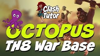 Clash of Clans Octopus TH8 War Base
