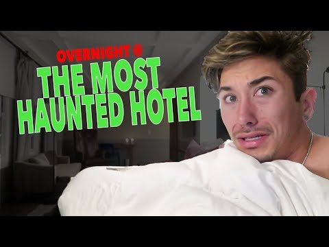 OVERNIGHT AT THE MOST HAUNTED HOTEL [ALONE]. (REALLY CREEPY)