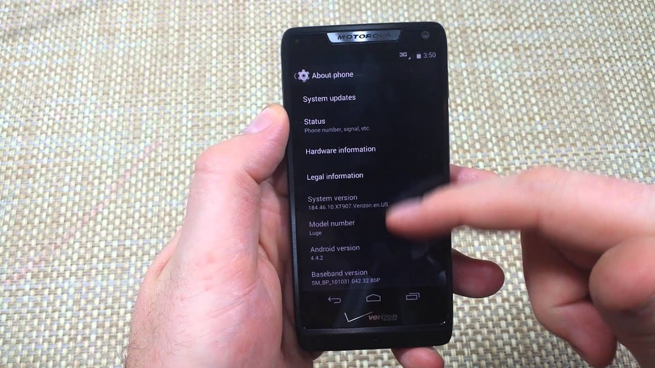 Motorola Luge How To Enable Or Turn On Developer Options Usb Debugging Mode  Droid Razr M Xt907