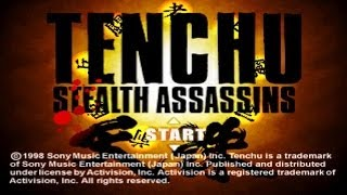 Tenchu : Stealth Assassins Walkthrough - Intro + Training (PSX)