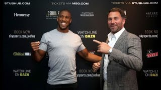 LIVE CHAT: ANTHONY JOSHUA CALLS LENNOX LEWIS A CLOWN WHO HE DOESN'T RESPECT