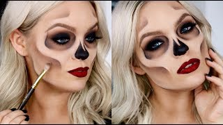 HOW TO: EASY SKULL/SKELETON MAKEUP - Halloween Costume Idea 2017