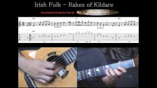Guitar Tutorial 6 - Irish Folk - Rakes of Kildare - Full Tab