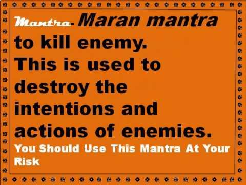 HOW TO KILL YOUR ENEMY -, HANUMAN MARAN MANTRA