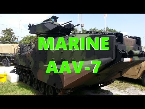 Marine AAV-7 Amphibious Assault Vehicle!