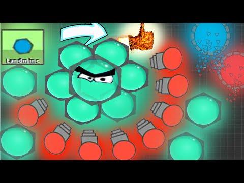 NEW INVISIBLE TANK! Landmine + Mega Smasher EPIC BODY DAMAGE  BEST TANKS | Diep.io