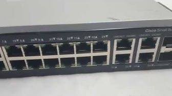 Cisco SF300-24P SRW224G4P-K9 10/100 PoE 24 10/100 POE Switch Closer Look