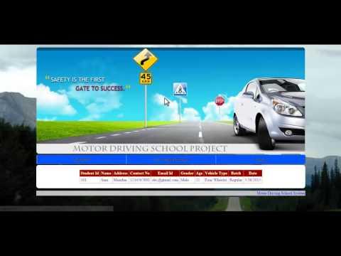 Motor Driving School System