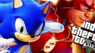 The ULTIMATE SONIC vs FLASH MOD (GTA 5 PC Mods Gameplay)