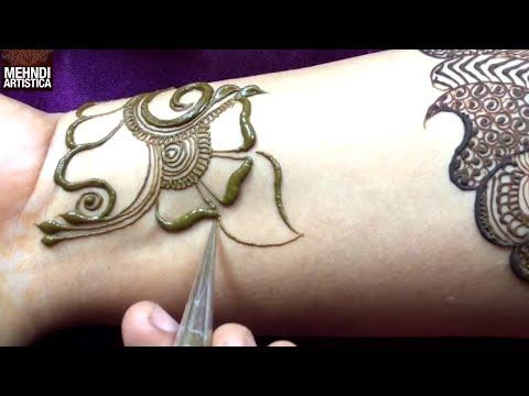 Stylish Arabian Henna Mehandi Design | Cute Artistic Mehndi By MehndiArtistica | मेहँदी लगाना सीखे thumbnail