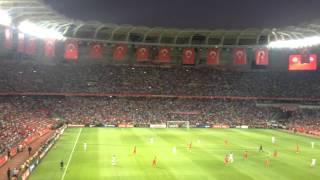 Türkiye Hollanda Taraftar Konya Torku Arena Kırmızı Beyaz En Büyük Türkiye