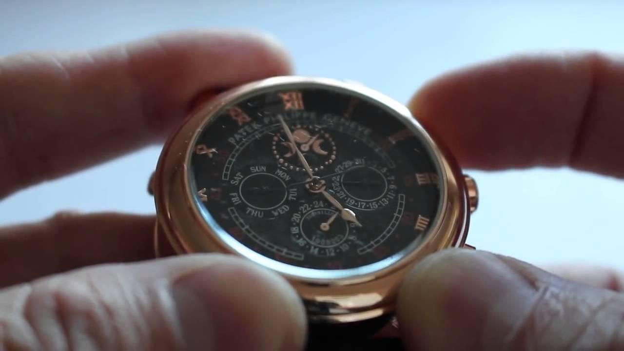 Комплект портмоне из кожи Montblanc, часы мужские Patek Philippe .