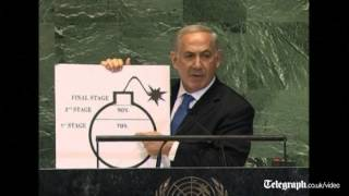Benjamin Netanyahu draws 'red line' on Iran nuclear programme