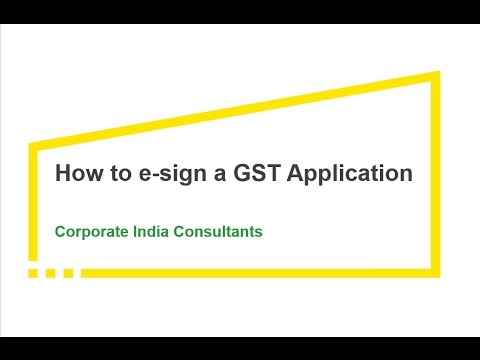 Online GST Enrollment Using E-sign Option