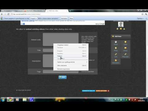 instruction for uploading videos to be-social.wall.fm a new social network!