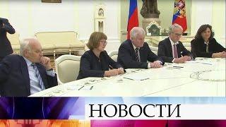 Владимир Путин встретился спремьер-министром Баварии Хорстом Зеехофером.
