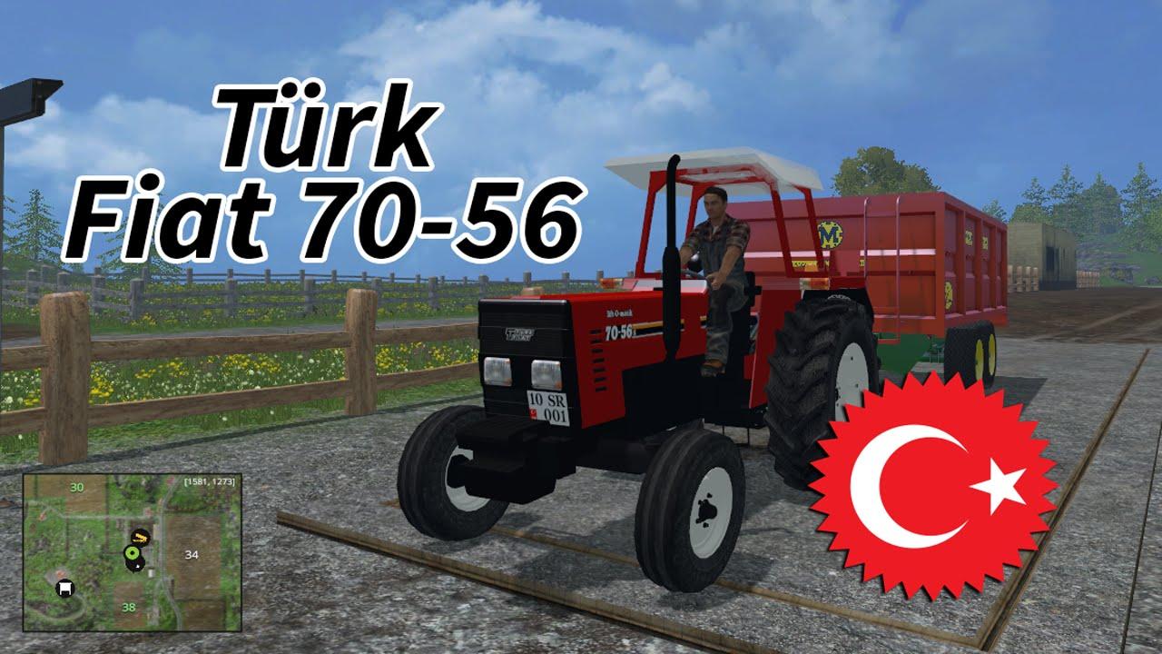 farming simulator 15 - türk fiat 70-56 traktör modu İncelemesi