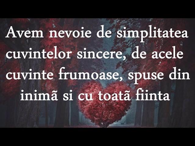 Avem nevoie de simplitate...