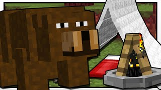 Minecraft | CAMPING BEAR ATTACK!! | Custom Mod Adventure thumbnail