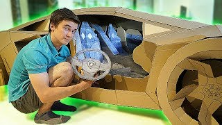 INTERIOR for LAMBORGHINI AVENTADOR from CARDBOARD