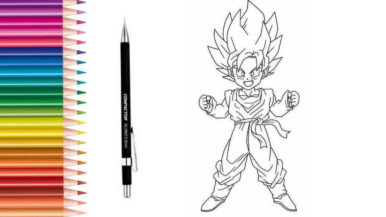 Como Desenhar O Goten Dragon Ball Z Igor Ambrosio Youtube