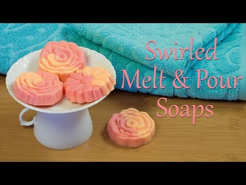 Melt And Pour Soap How To Make Swirled Melt And Pour Soaps