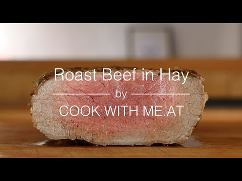 Roast Beef Grilled in Hay - Dry Aged Angus Roast Beef Easter Recipe - COOK WITH ME.AT