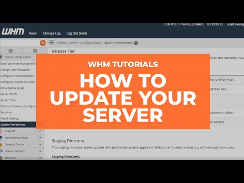WHM Tutorials - How to Update Your Server