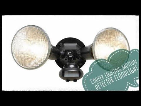 Cooper Lighting 110 Degree Motion Detector Floodlight Black