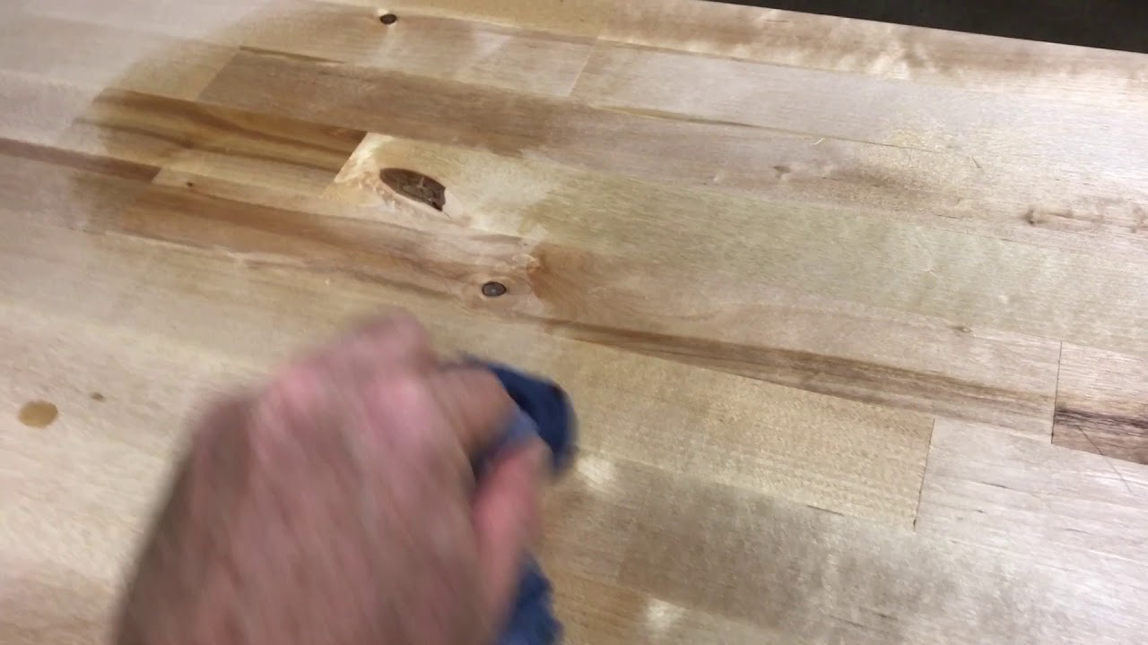 SECRET To A Perfect Finish On A Butcher Block Countertop (watco Review)