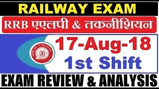 RRB ALP (17 Aug 2018, Shift-I) Exam Analysis & Asked Questions