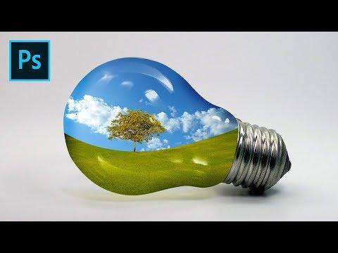 Photoshop Tutorial | Landscape in Bulb | Photo Manipulation