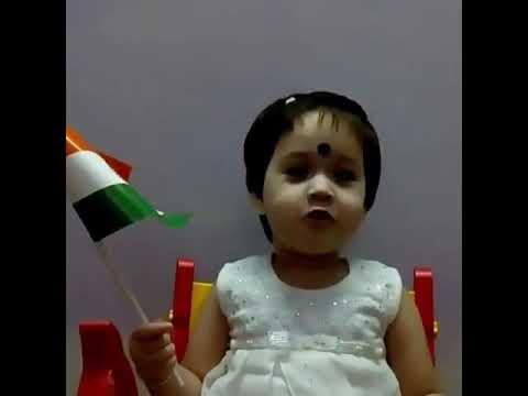 CUTE BABY SINGING JAN GAN MAN  Wishing Independence Day
